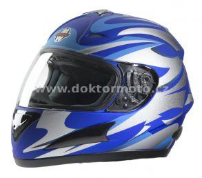 Integral-Helm FF4 Magnetic Stripe Blue - Größe M