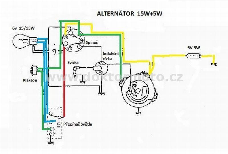 Verkabelung ES-6 JAWA Pionýr