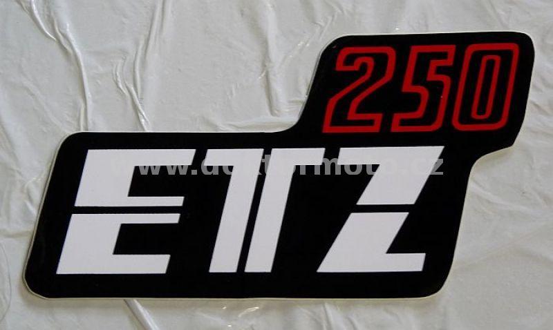 Kasten Aufkleber Etz 250 Schwarz Weiß Rot Original