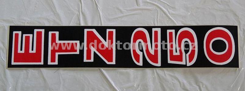 Frontgleiter Aufkleber Etz 250 Schwarz Weiß Rot